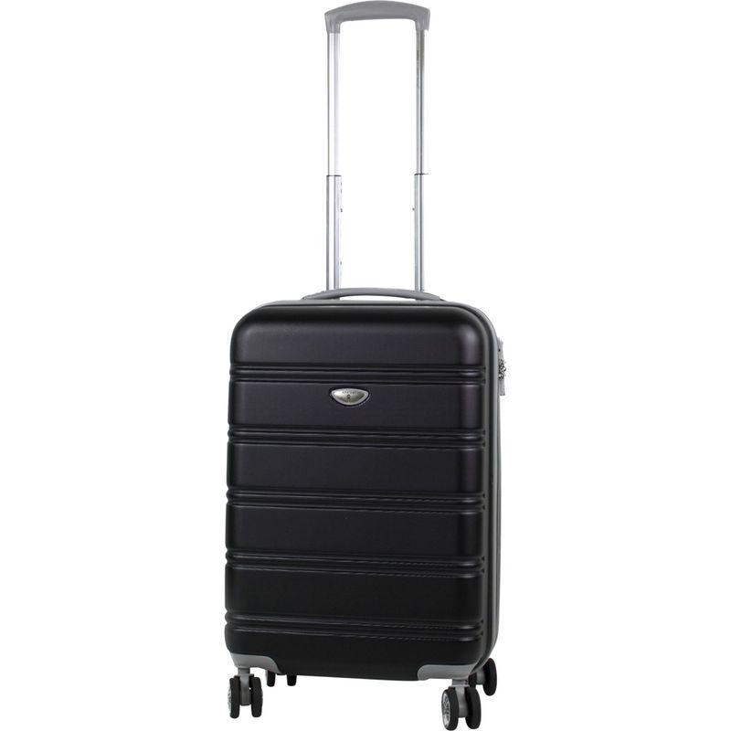 アメリカングリーントラベル メンズ スーツケース バッグ Plateau 20 Expandable Hardside Carry-On Spinner Black