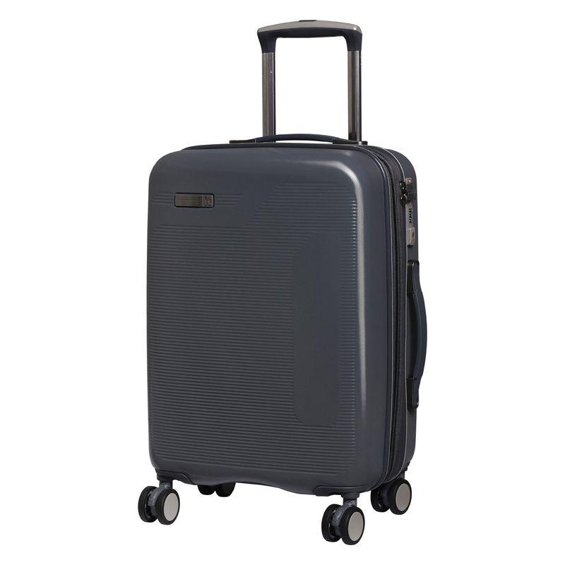 アイティー メンズ スーツケース バッグ Signature 20.9 Expandable Hardside Spinner Carry-On Charcoal Gray