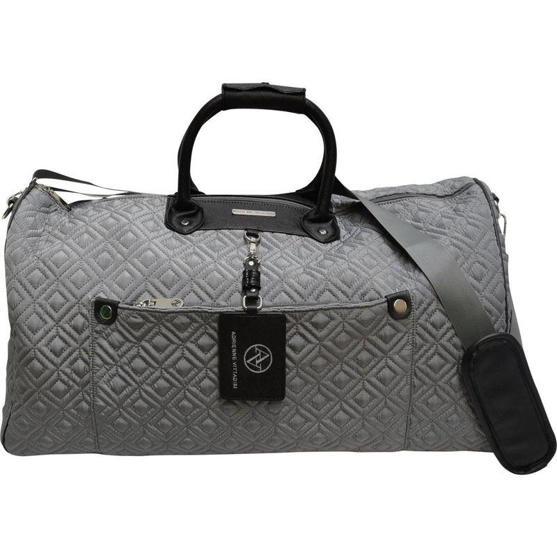 アドリアンヌヴィッタディーニ メンズ スーツケース バッグ 22 Quilted Nylon Duffel Gray