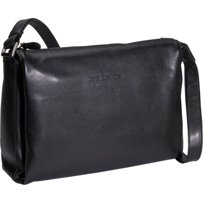 デレクアレクサンダー メンズ ショルダーバッグ バッグ Classic Top Zip Handbag Black