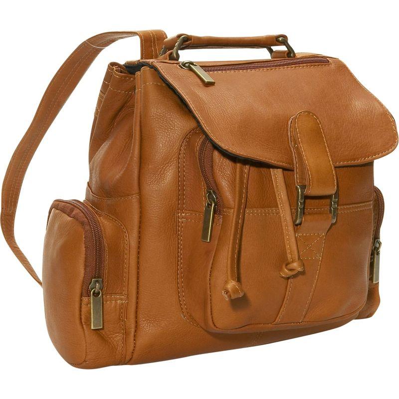 デビッドキング メンズ バックパック・リュックサック バッグ Mid Size Top Handle Backpack Tan