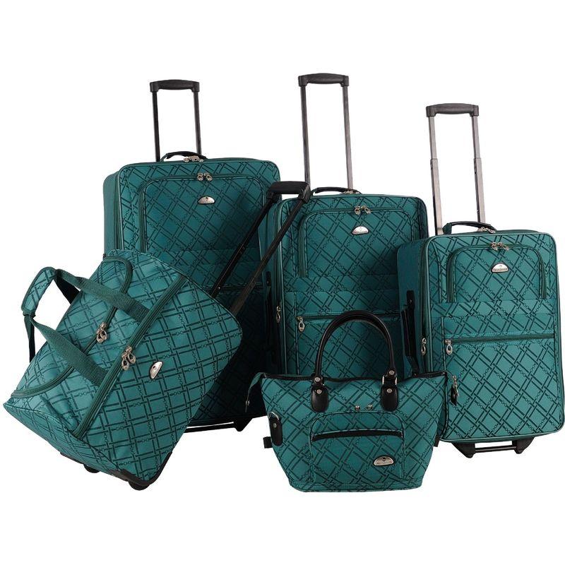 アメリカンフライアー メンズ スーツケース バッグ Pemberly 5 Piece Buckles Set Green