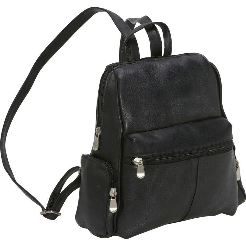 ルドネレザー メンズ バックパック・リュックサック バッグ Zip Around Backpack/Purse Black