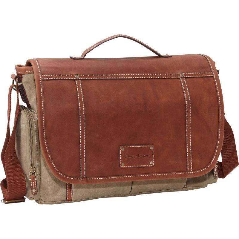 トッミーバハマ メンズ ショルダーバッグ バッグ The Casual Bag Messenger Bag Khaki/Cognac