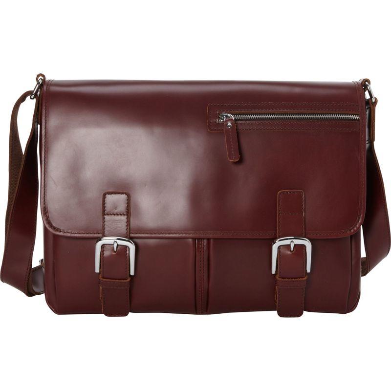 ヴァガボンドトラベラー メンズ ショルダーバッグ バッグ 16 Leather Messenger Bag Wine Red