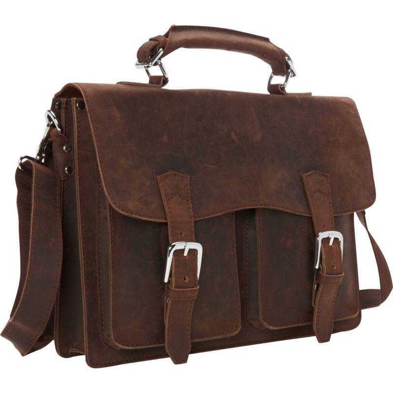 ヴァガボンドトラベラー メンズ スーツケース バッグ Pro Leather Laptop Briefcase Vintage Distress