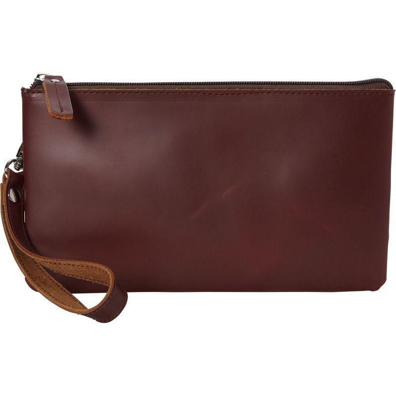 ヴァガボンドトラベラー メンズ セカンドバッグ・クラッチバッグ バッグ Full Grain Leather Large Clutch Zipper Wallet Wine Red