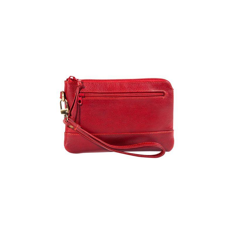 デレクアレクサンダー メンズ セカンドバッグ・クラッチバッグ バッグ Smart Phone Friendly Wristlet Clutch Red