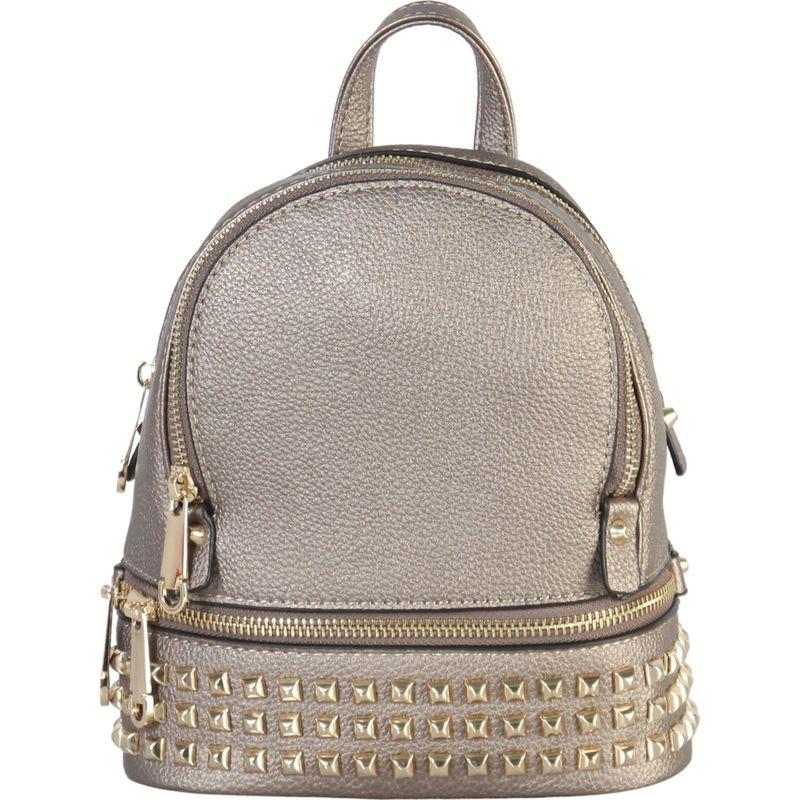 リーメンアンドコー メンズ バックパック・リュックサック バッグ Golden Studded & Zipper Decor Mini Chic Backpack Pewter