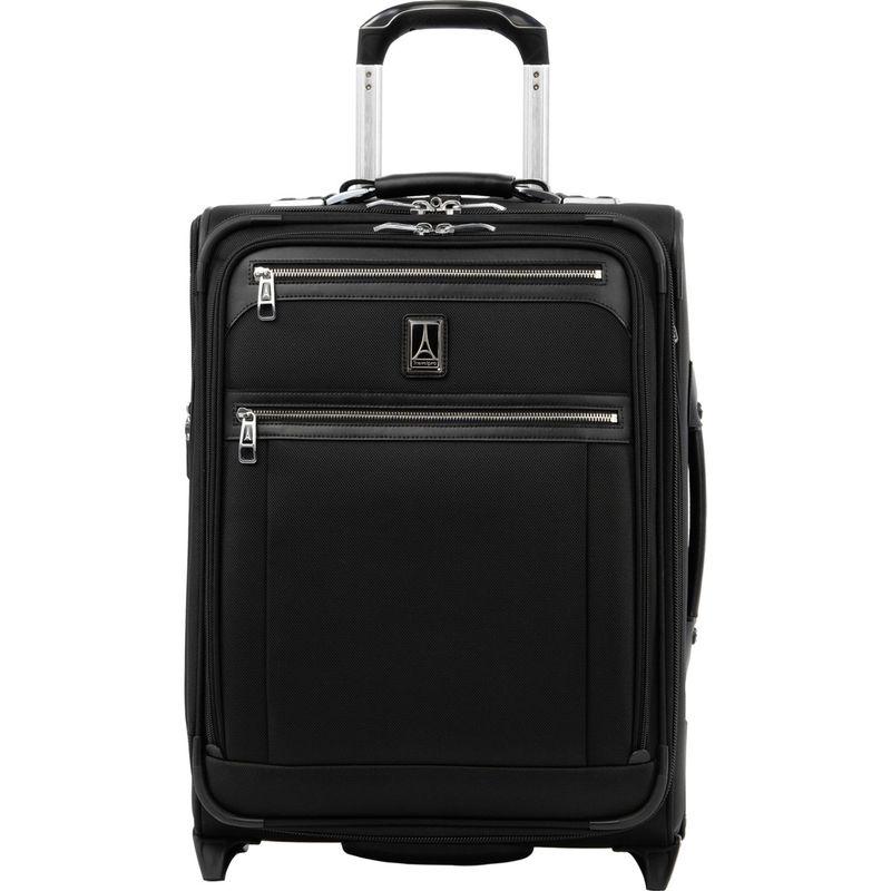 トラベルプロ メンズ スーツケース バッグ Platinum Elite International Expandable Carry-On Rollaboard with USB Port Shadow Black