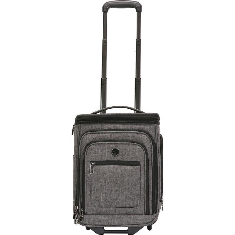トラベラーズクラブ メンズ スーツケース バッグ Conway 17 Expandable Underseat Carry-On Dark Gray