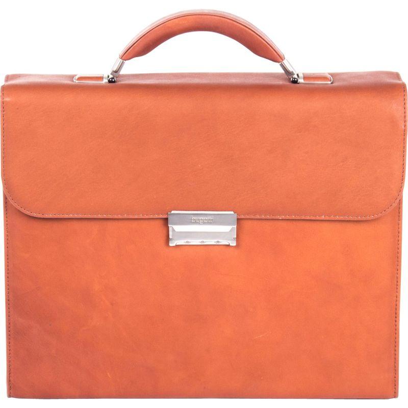 ブガッティ メンズ スーツケース バッグ Sartoria Small Leather Briefcase Cognac