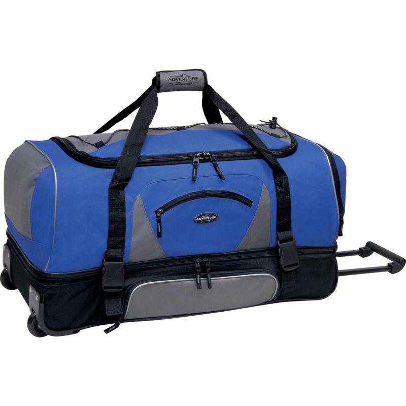 トラベラーズクラブ メンズ スーツケース バッグ Adventure 30 Rolling 2-Tone Multi-Pocket Large Packing Capacity Duffel Navy/Black