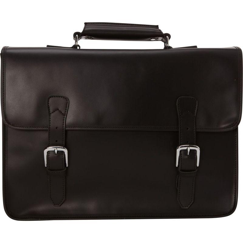 ヴァガボンドトラベラー メンズ スーツケース バッグ Extra Large Leather Laptop Bag Black