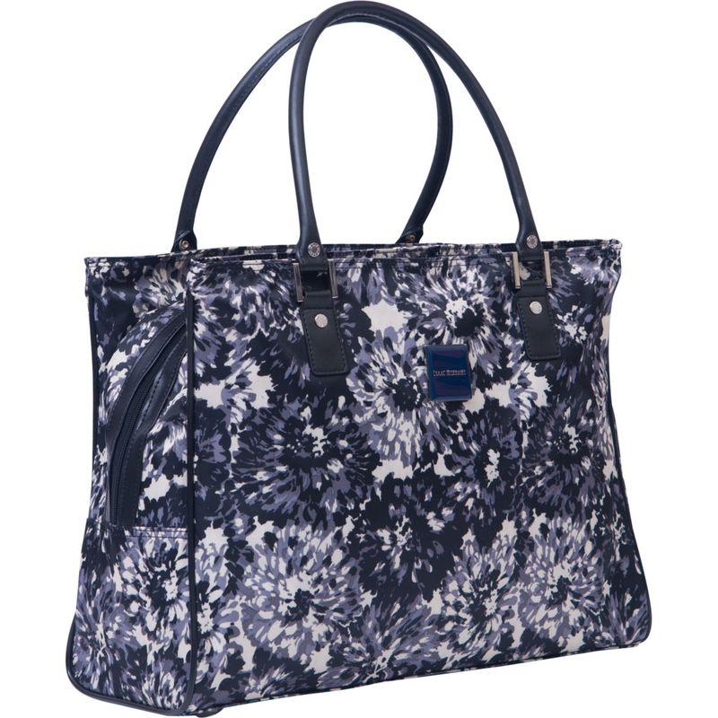 イザックミズラヒ メンズ スーツケース バッグ Boldon DLX Shopper Tote Black/White