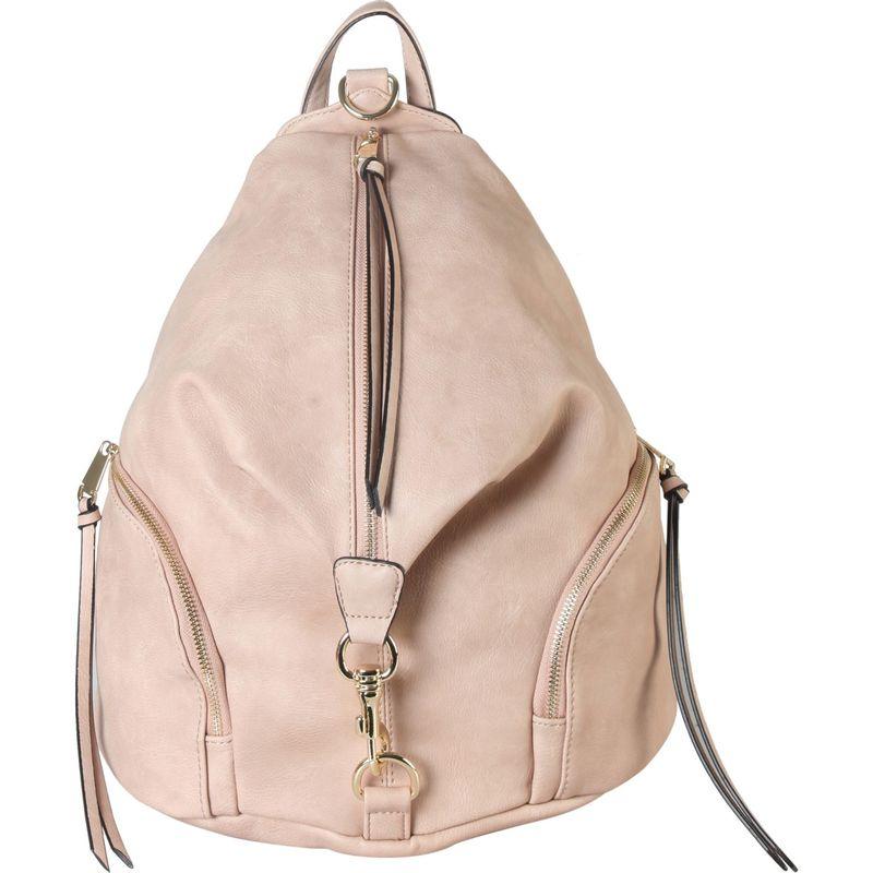 ディオフィ メンズ バックパック・リュックサック バッグ Duel Side Zipper Pocket Fashion Backpack Blush
