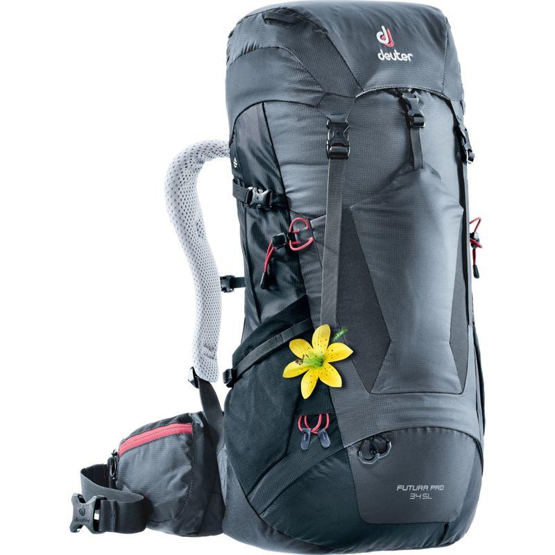 ドイター レディース バックパック・リュックサック バッグ Womens Futura PRO 34 SL Hiking Pack Graphite/Black(47010)