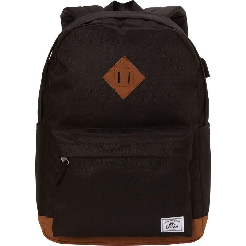 エバーレスト メンズ バックパック・リュックサック バッグ Heritage Laptop Backpack - eBags Exclusive Black