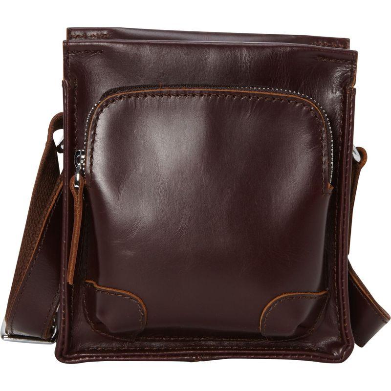ヴァガボンドトラベラー メンズ ショルダーバッグ バッグ 7 Cowhide Leather Satchel Bag Wine Red