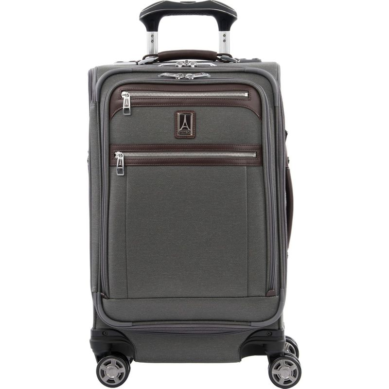 トラベルプロ メンズ スーツケース バッグ Platinum Elite 21 Expandable Carry-On Spinner Vintage Grey