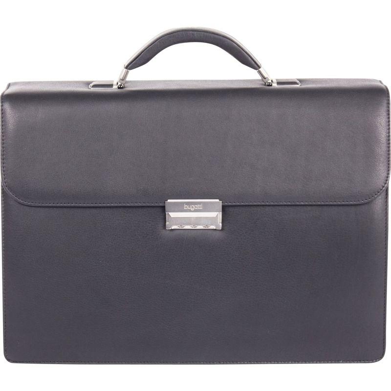 ブガッティ メンズ スーツケース バッグ Sartoria Large Top Grain Leather Briefcase Black
