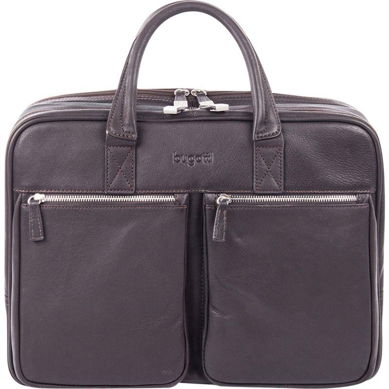 ブガッティ メンズ スーツケース バッグ Sartoria Zipper Large Leather Briefcase Brown