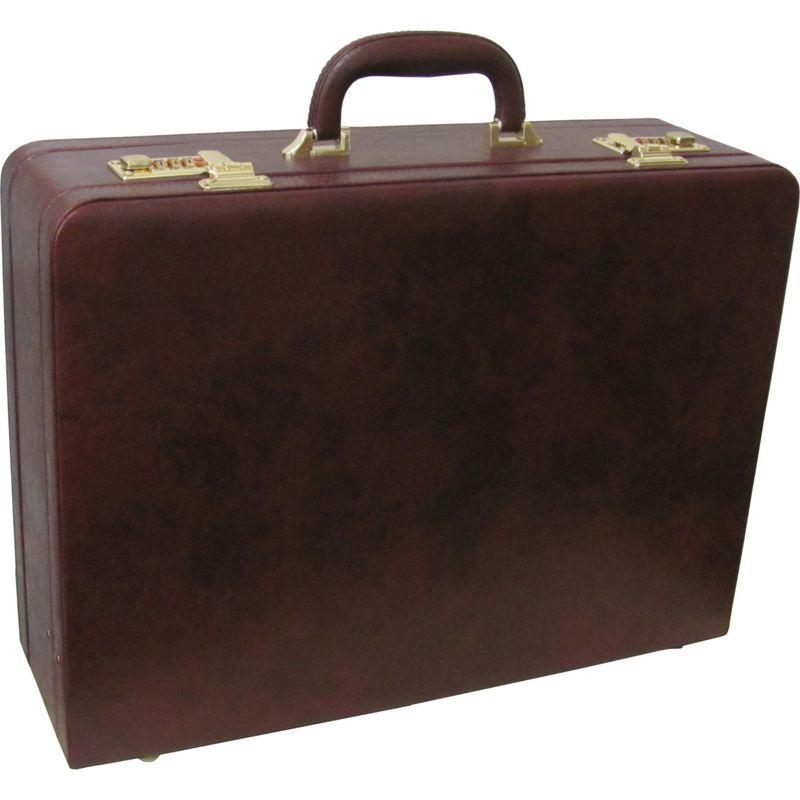アメリ メンズ スーツケース バッグ Large Expandable Faux Leather Attach Case Dark Burgundy
