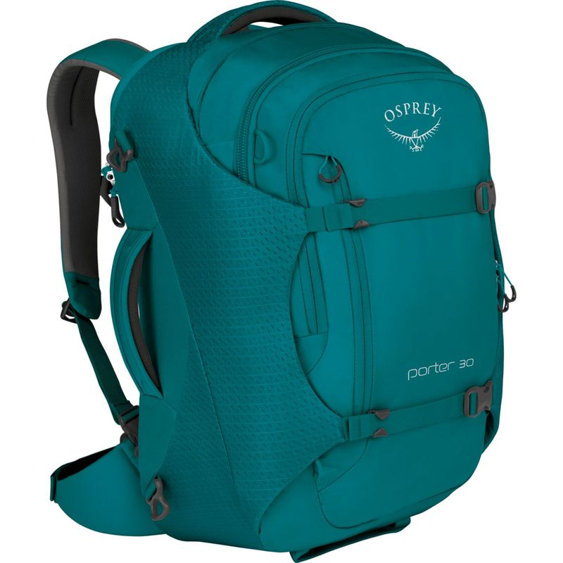 オスプレー メンズ バックパック・リュックサック バッグ Porter 30 Travel Backpack Mineral Teal
