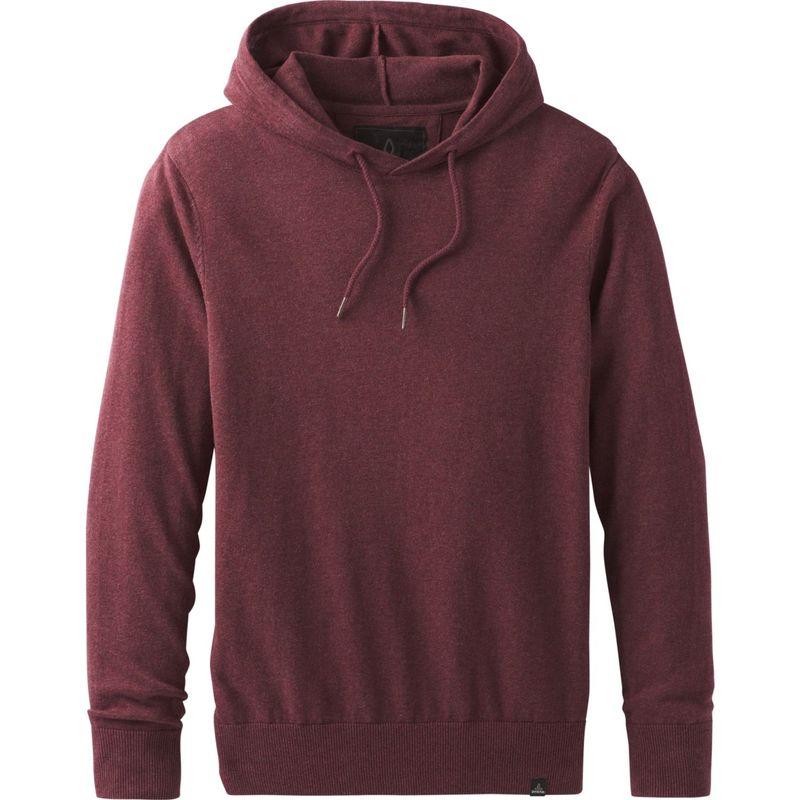 プラーナ メンズ ニット・セーター アウター Throw-On Hooded Sweater Black Cherry