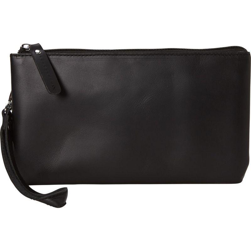 ヴァガボンドトラベラー メンズ セカンドバッグ・クラッチバッグ バッグ Full Grain Leather Large Clutch Zipper Wallet Black