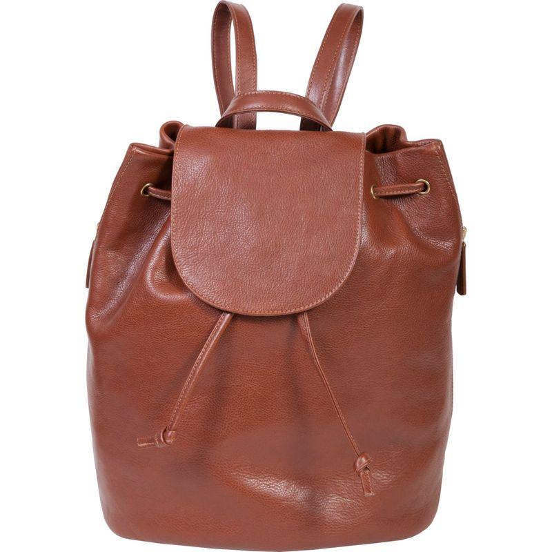 スカーリー メンズ バックパック・リュックサック バッグ Ladies Ranchero Leather Backpack Handbag Tan