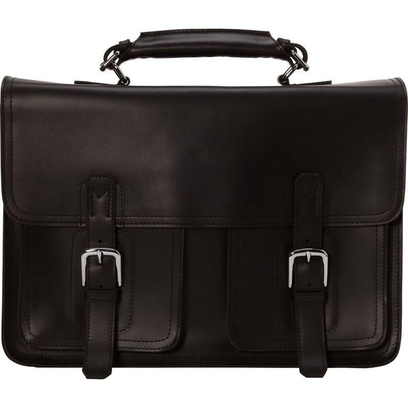 ヴァガボンドトラベラー メンズ スーツケース バッグ 17 MacBook Pro - 18 Leather Briefcase Black