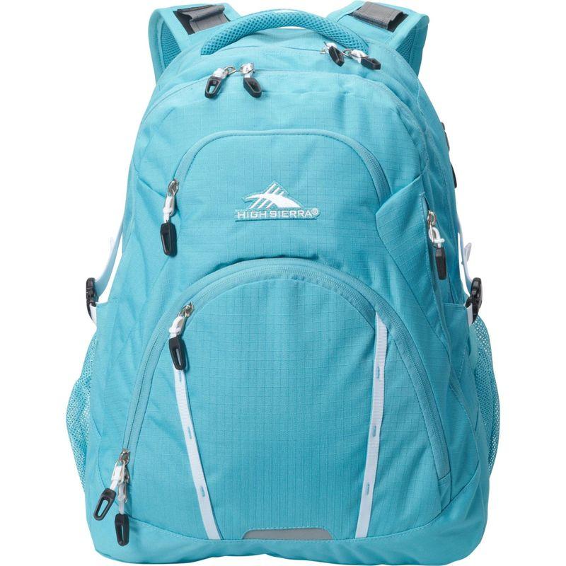 ハイシエラ メンズ スーツケース バッグ Emery Laptop Backpack-17 Tropic Teal/White
