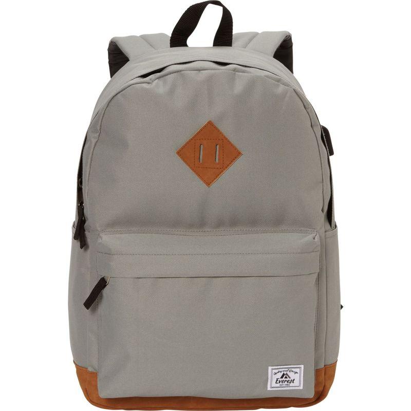 エバーレスト メンズ バックパック・リュックサック バッグ Heritage Laptop Backpack - eBags Exclusive Gray