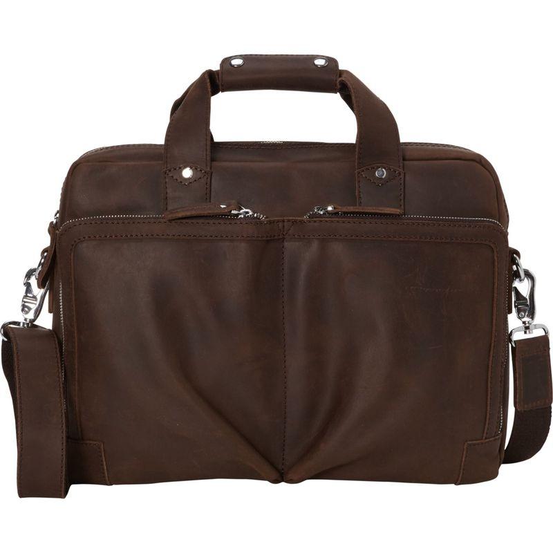 ヴァガボンドトラベラー メンズ スーツケース バッグ Classic Medium Full Grain Leather Messenger Laptop Bag Distress