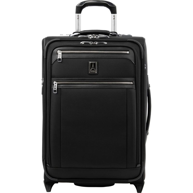 トラベルプロ メンズ スーツケース バッグ Platinum Elite 22 Expandable Carry-On Rollaboard with USB Port Shadow Black