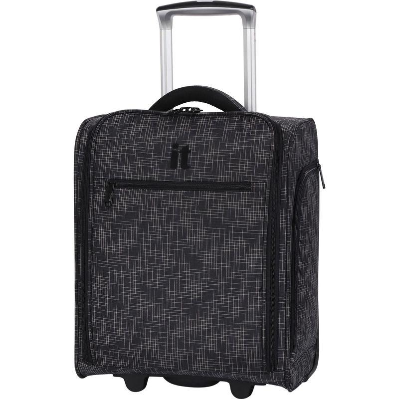 アイティー メンズ スーツケース バッグ Stitched Squares 17.1 2 Wheel Lightweight Underseat Tote Black