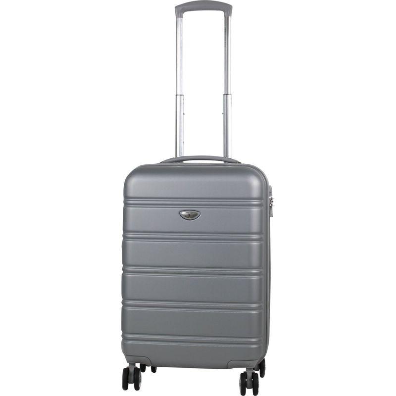 アメリカングリーントラベル メンズ スーツケース バッグ Plateau 20 Expandable Hardside Carry-On Spinner Silver