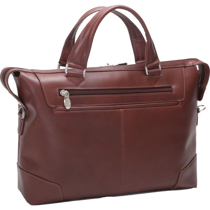マックレイン メンズ スーツケース バッグ Arcadia Slim Laptop Briefcase Brown