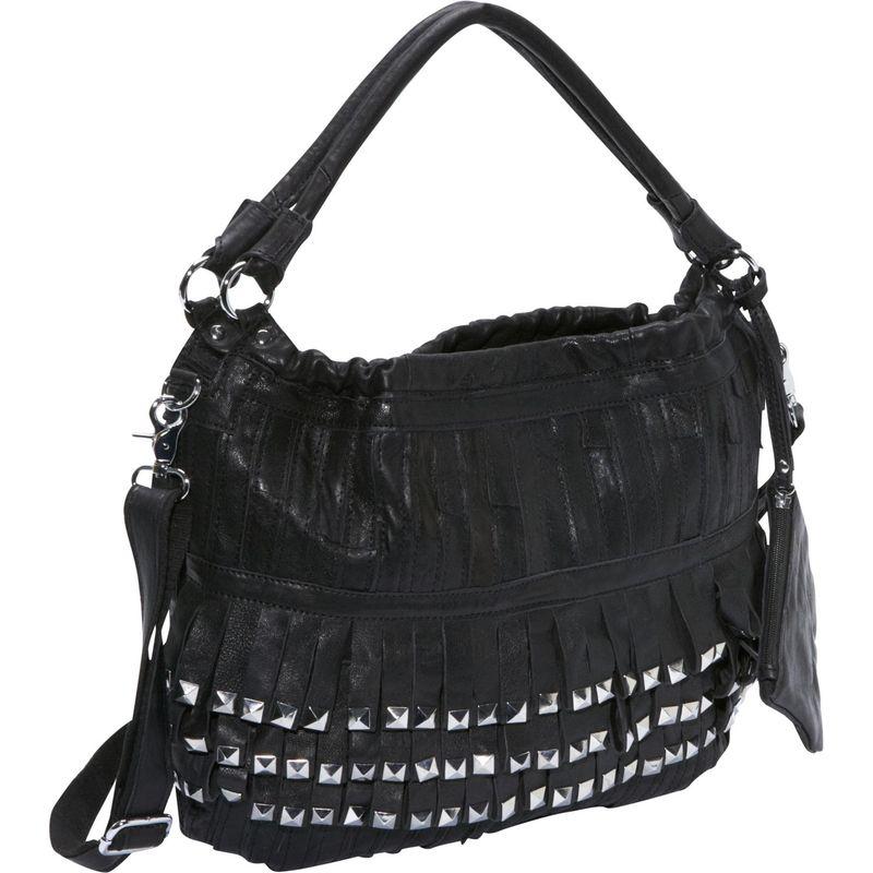 アメリ メンズ ハンドバッグ バッグ Studded Tutu Leather Hobo Black