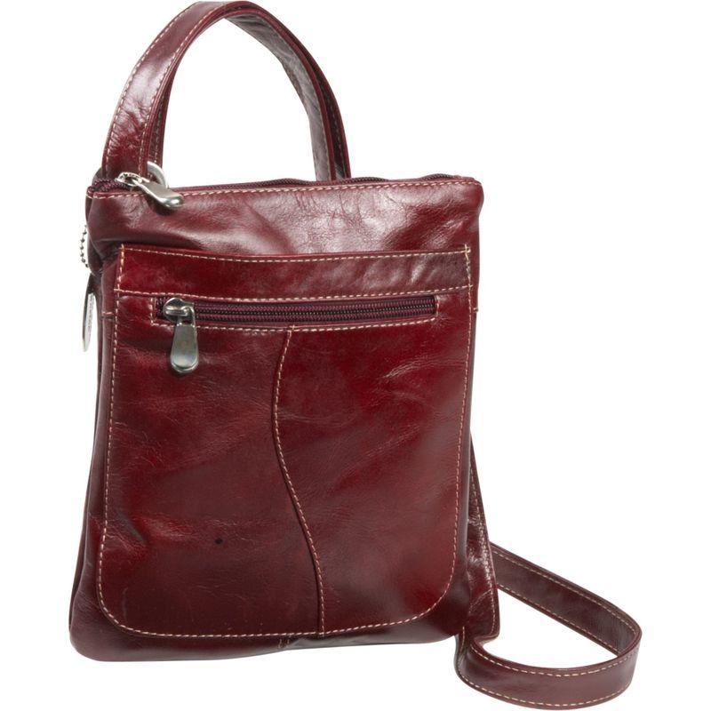 デビッドキング メンズ ボディバッグ・ウエストポーチ バッグ Florentine Slender Shoulder Bag Cherry