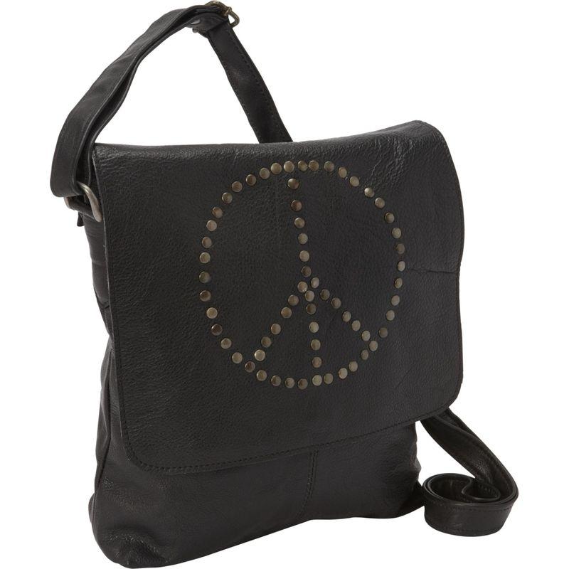 シャロレザーバッグス メンズ ボディバッグ・ウエストポーチ バッグ Peace Messenger Bag Black