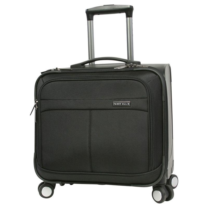 ペリーエリス メンズ スーツケース バッグ Rolling Laptop Business Bag Black