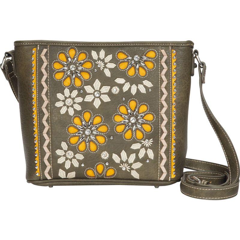 モンタナウェスト メンズ ボディバッグ・ウエストポーチ バッグ Embroidered Floral Crossbody Green