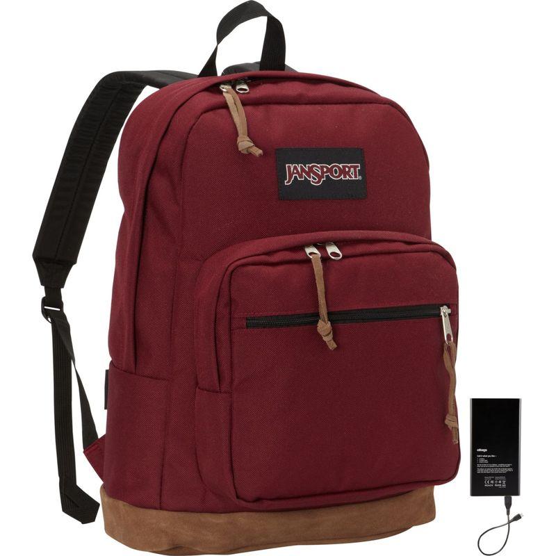 ジャンスポーツ メンズ バックパック・リュックサック バッグ Right Pack Laptop Backpack 15 w/ Lifeboat Battery Russet Red