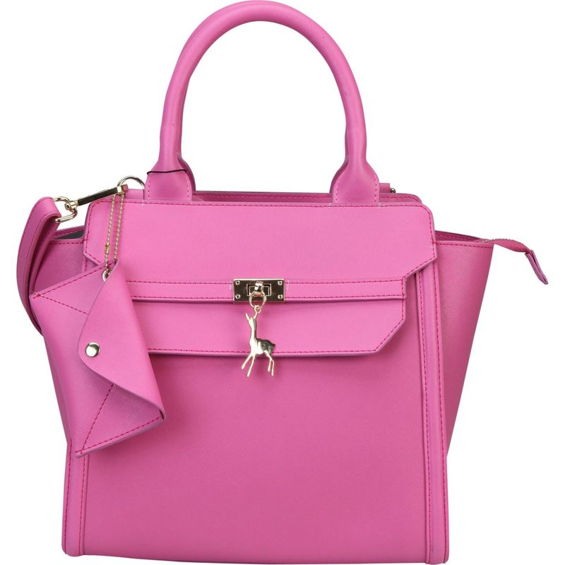ディオフィ メンズ トートバッグ バッグ Mllecoco Deer Ornament Tote with Adjustable Shoulder Strap Fuchsia