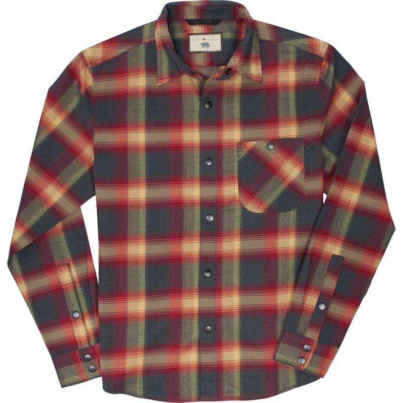 ダコタグリズリー メンズ シャツ トップス Mens Mason Snap Front Flannel Shirt Lava