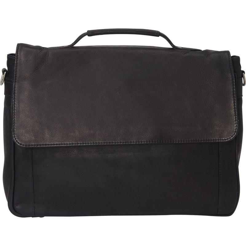 ピエール メンズ スーツケース バッグ Classic Flapover Laptop Portfolio Black