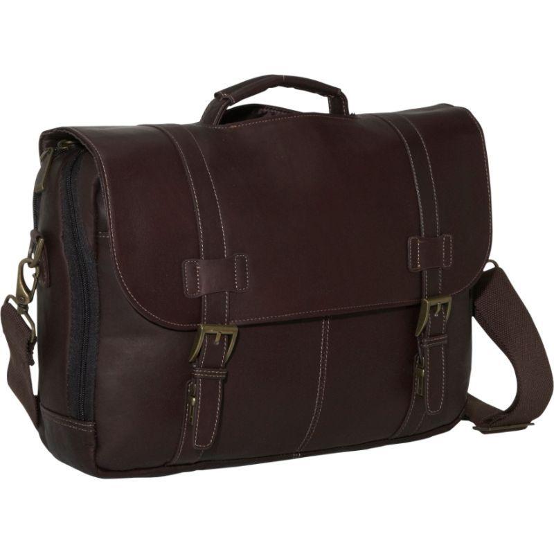 ケネスコール メンズ スーツケース バッグ Show Business - Colombian Leather Flapover Computer Case Brown