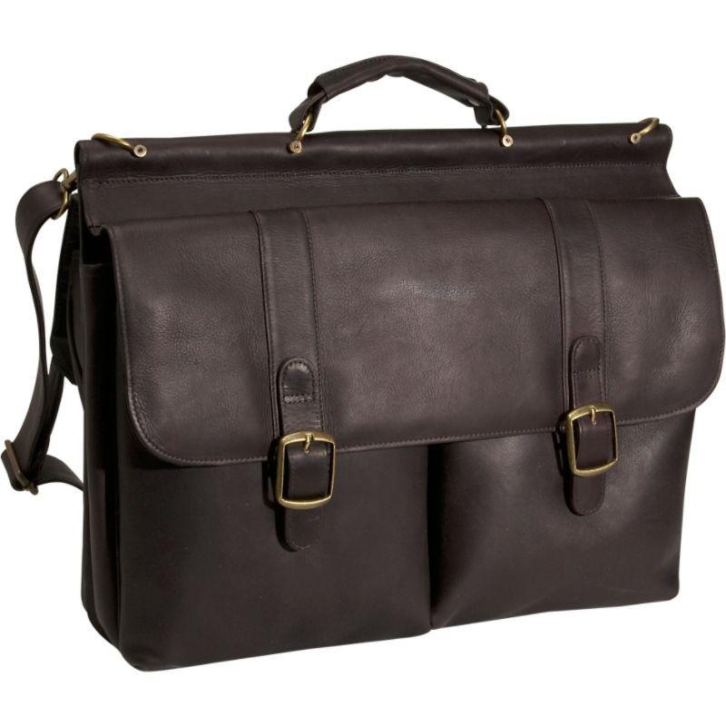デビッドキング メンズ スーツケース バッグ Dowel Laptop Briefcase Cafe